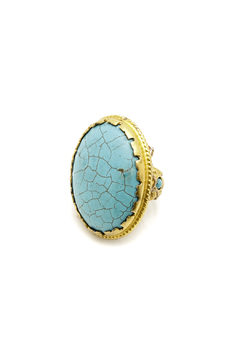 Gypsy Handcrated Turquoise Ring - Alternate List Image