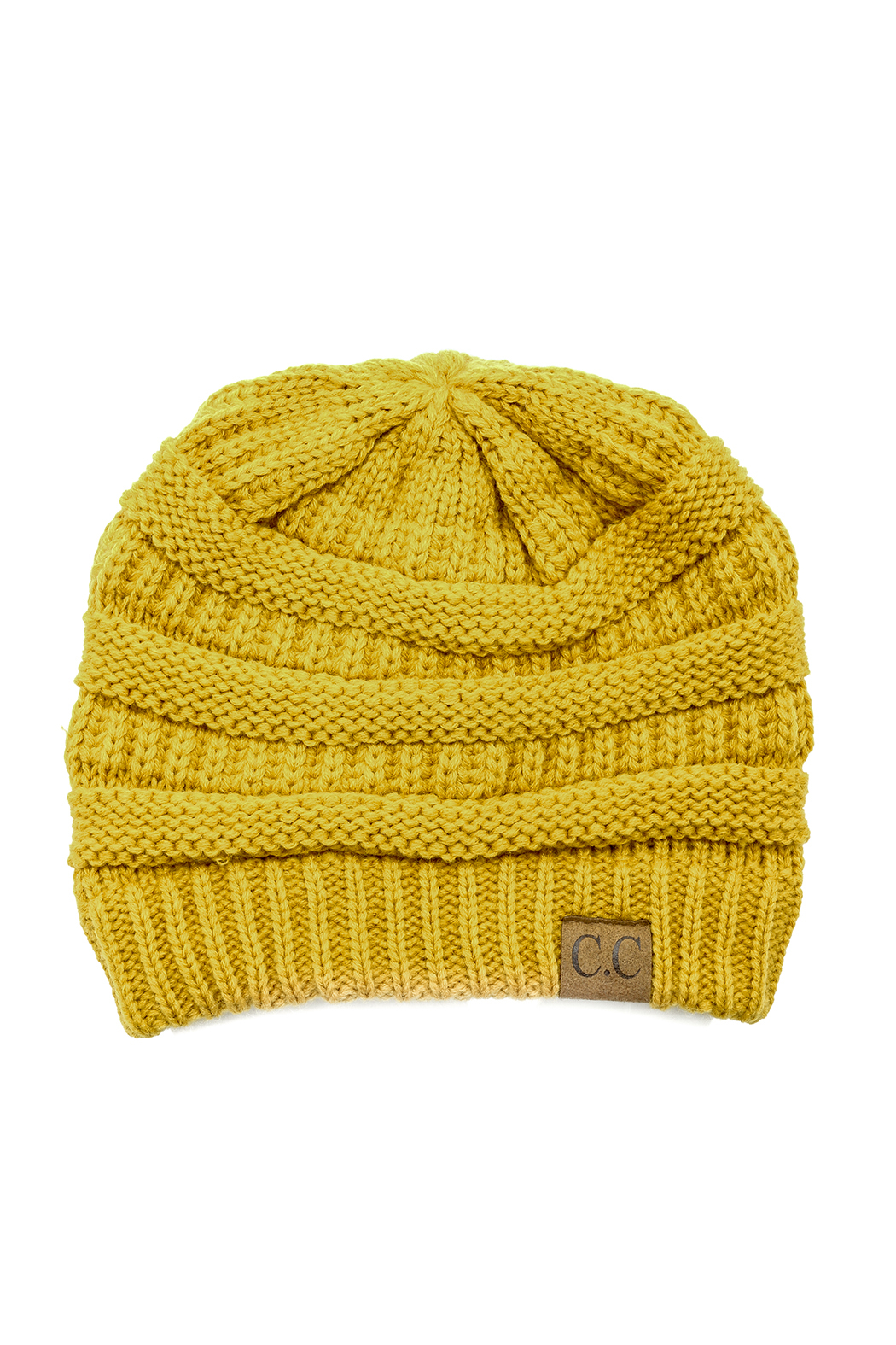 CC Beanie Knit Ribbed Beanie - Front Cropped Image