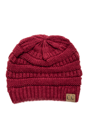 CC Beanie Knit Ribbed Beanie - Front cropped