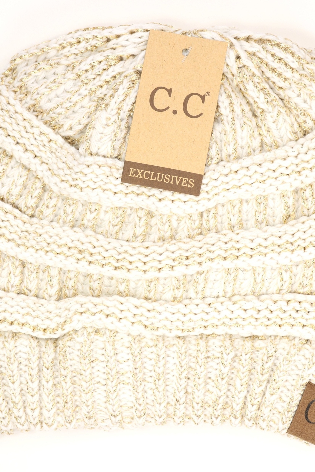 CC Beanie Hat - Front Cropped Image