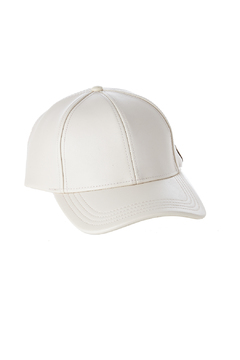 Shoptiques Product: Faux Leather Baseball Cap