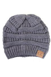 C.C. Grey Slouch Beanie - Product Mini Image