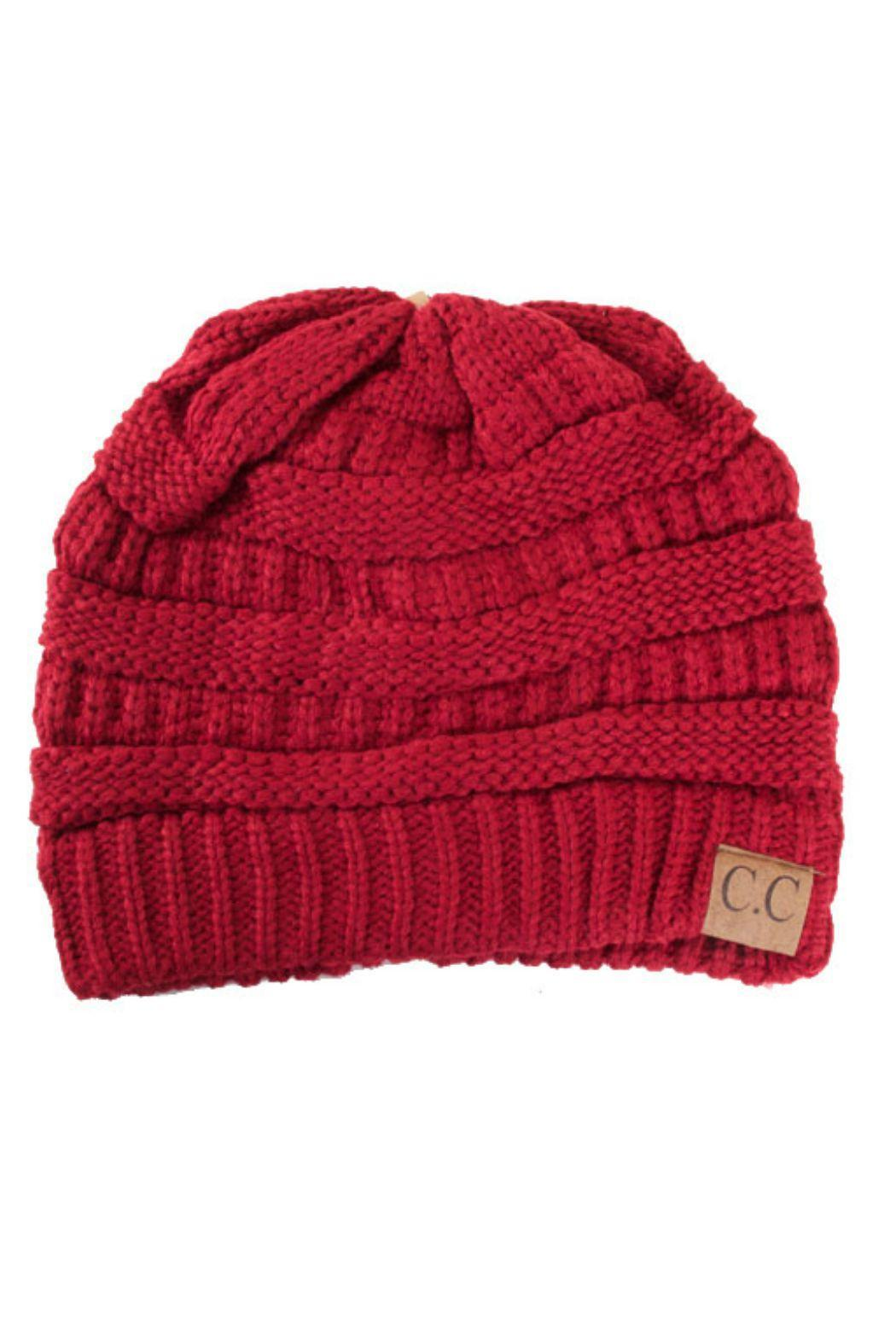C.C. Red Slouch Beanie - Main Image