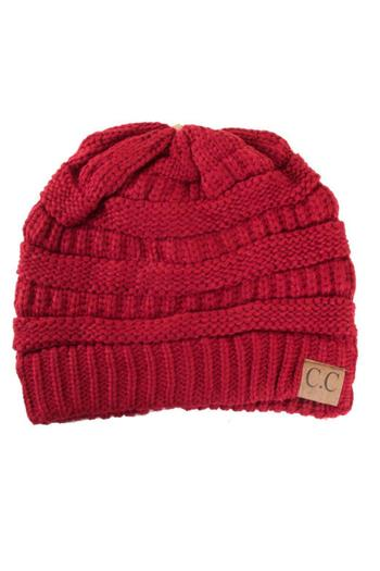 9a91ab9222ae3 C.C. Red Slouch Beanie from Minneapolis by StyleTrolley
