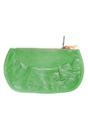Pampa & Pop Zippered Leather Purse - Front cropped