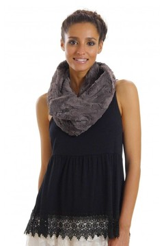 Melody Gray Fur Scarf - Alternate List Image