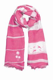 Winky Designs Pink Birds Scarf - Front cropped