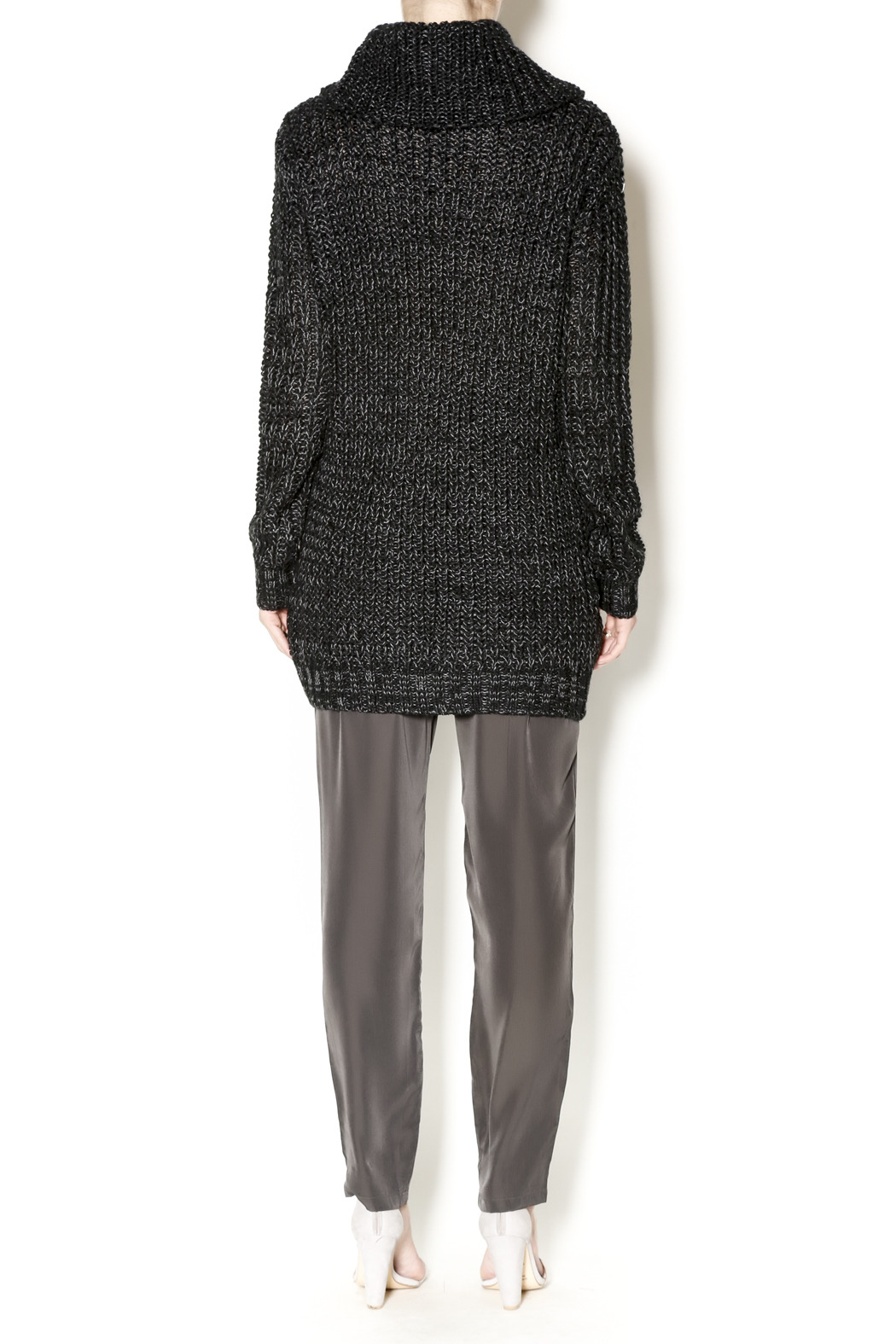 Cecico Long Knit Sweater - Side Cropped Image