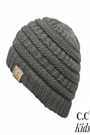 CC Beanie C.C. Kid-Grey-Ribbed Beanie - Product Mini Image