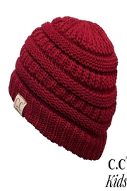 CC Beanie C.C. Kid-Red-Ribbed Beanie - Product Mini Image