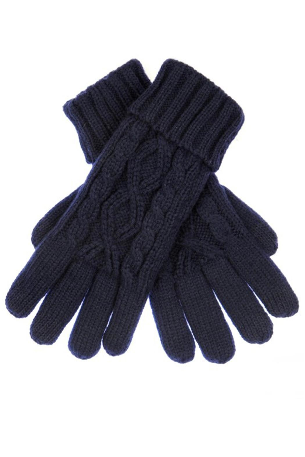 CC Beanie Cable Knit Gloves - Main Image