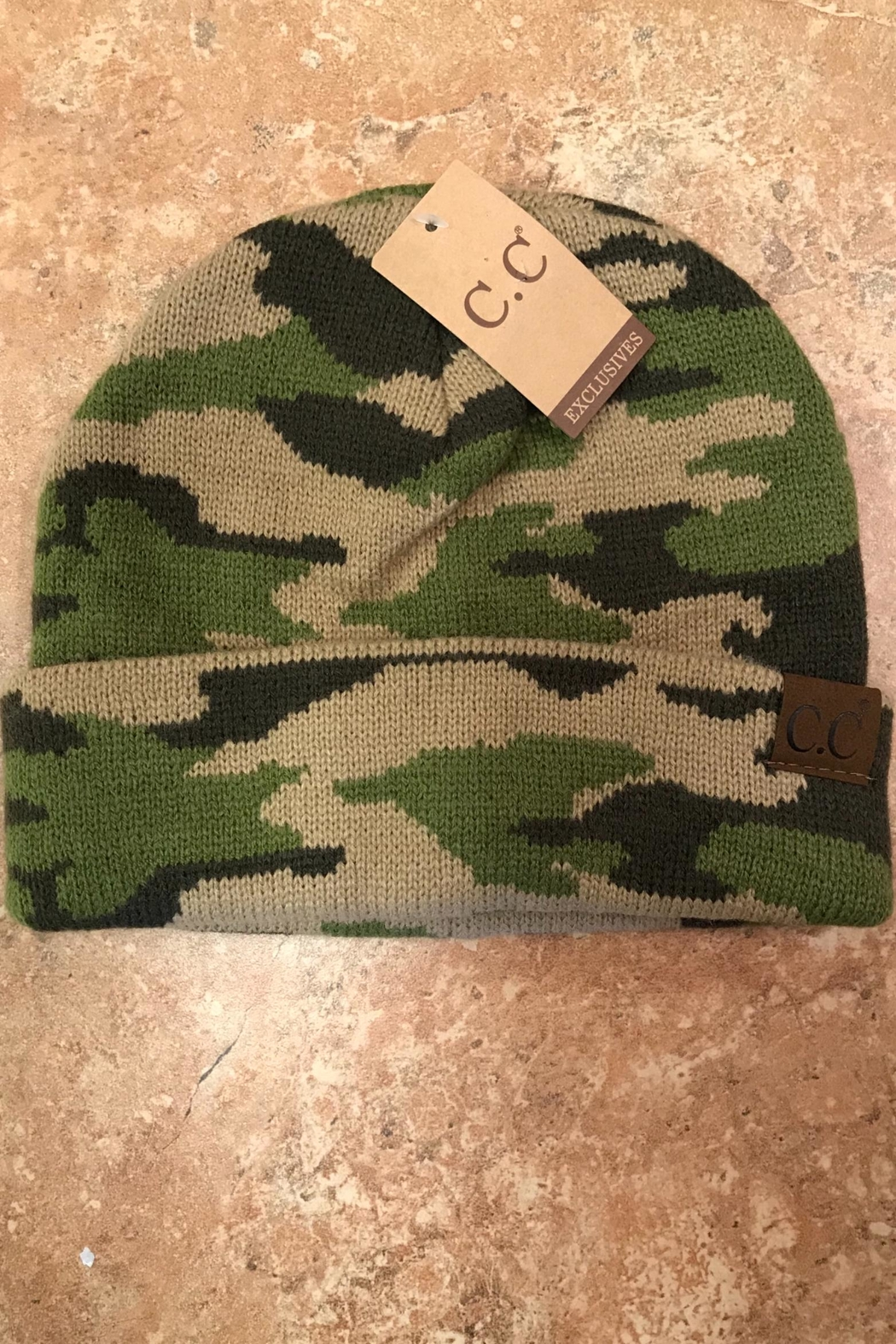 CC SKYE Camo Hat - Front Cropped Image