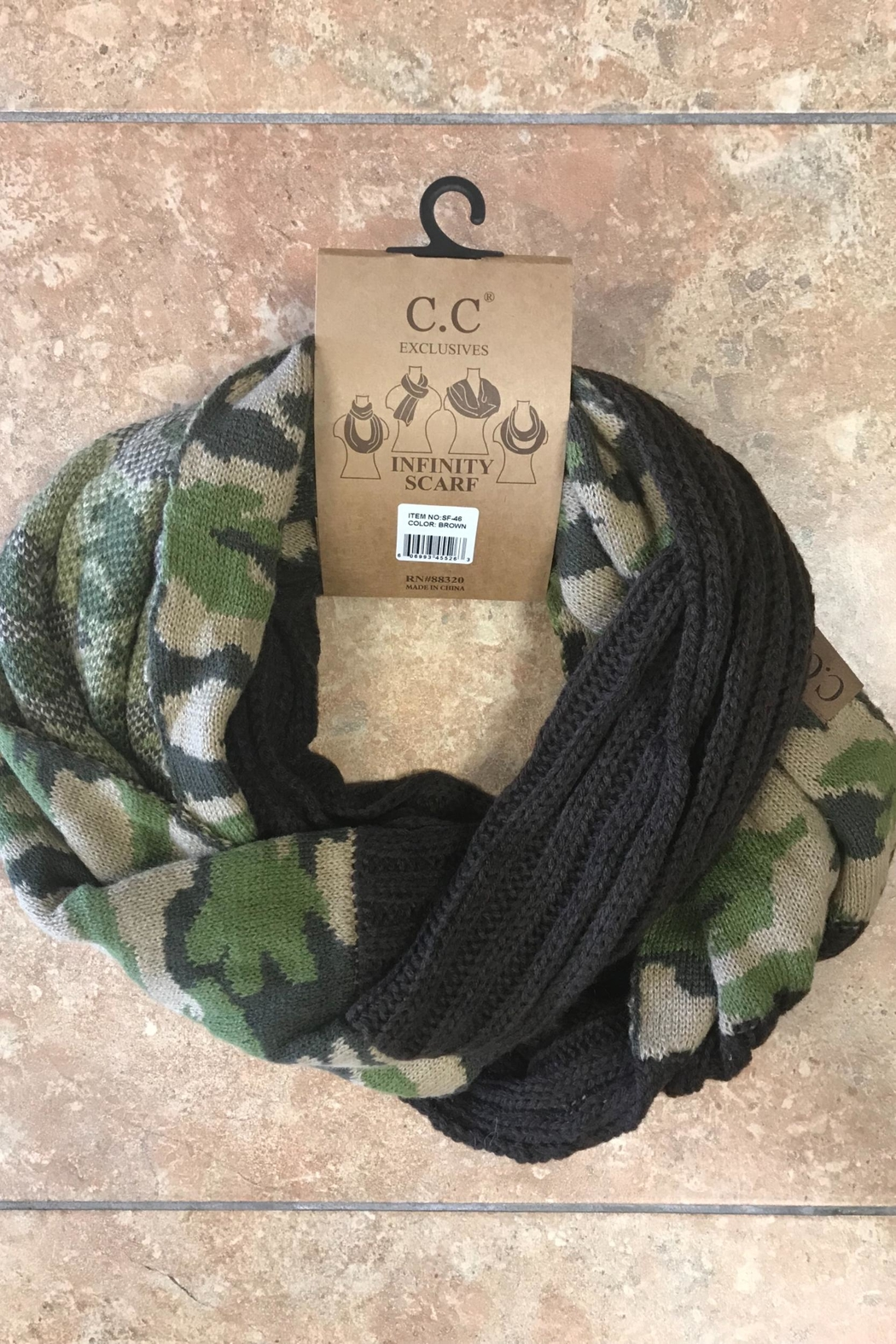 CC SKYE Camo Scarf - Front Cropped Image