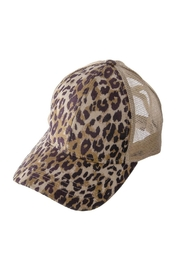 CCH Collection Leopard Criss-Cross Pony Tail Cap - Product Mini Image