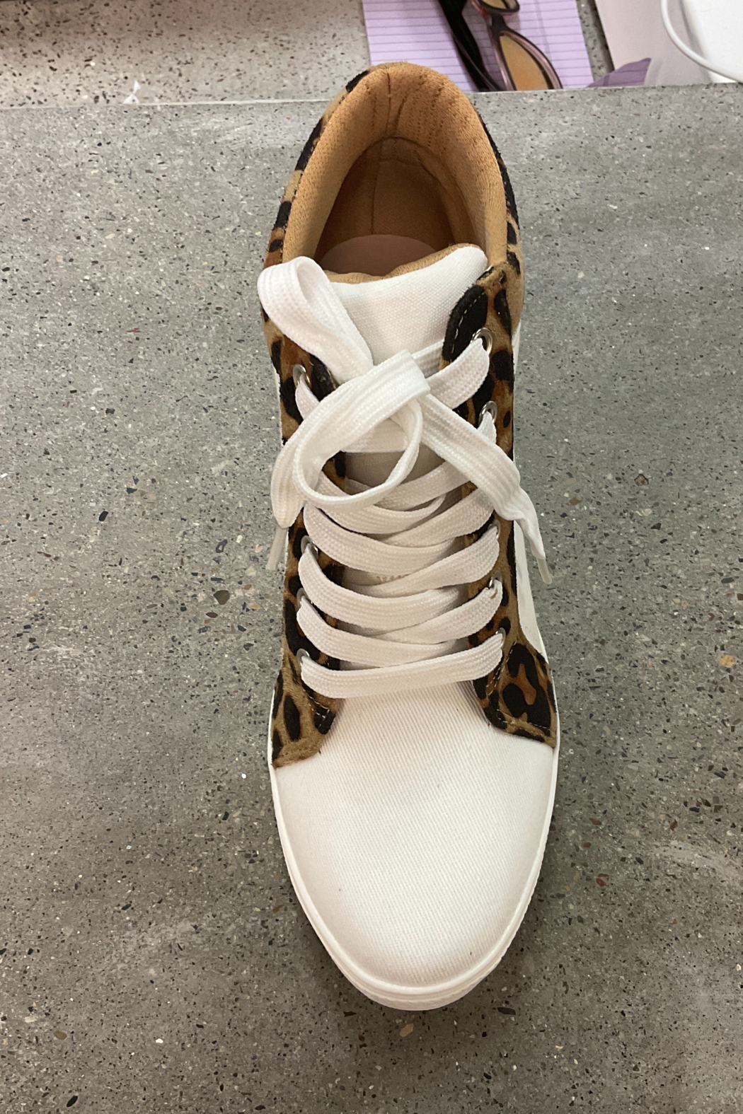 Ccocci - Lake - Leopard Wedge Sneakers - Front Full Image