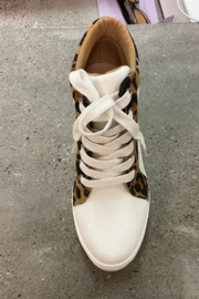Ccocci - Lake - Leopard Wedge Sneakers - Front full body