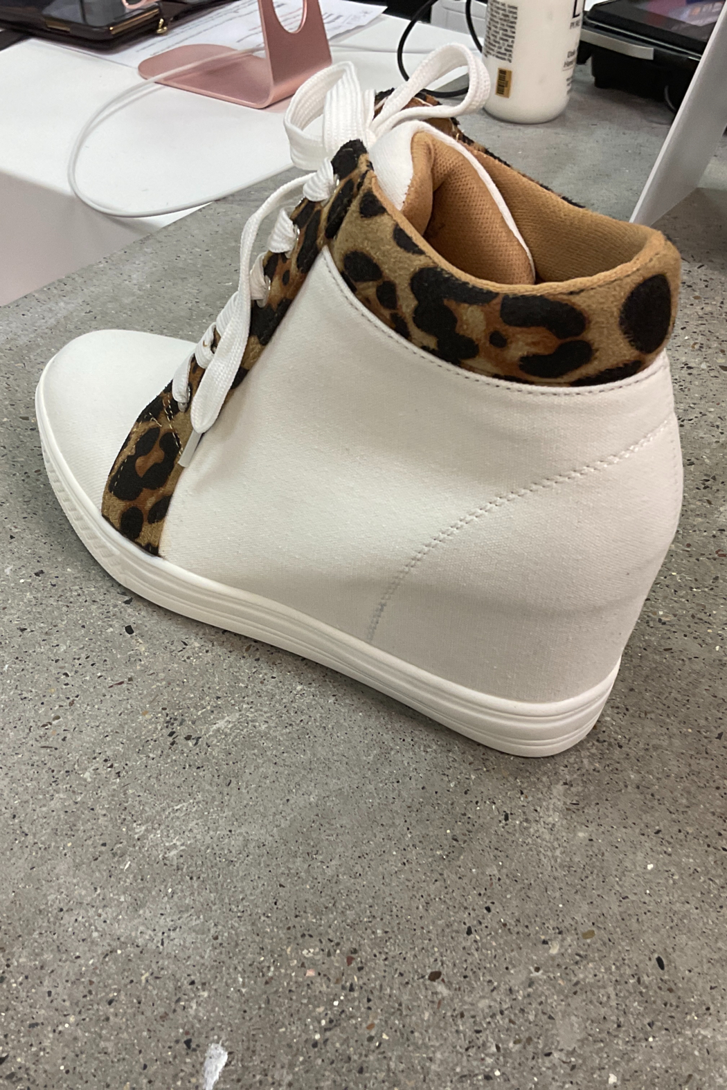 Ccocci - Lake - Leopard Wedge Sneakers - Side Cropped Image
