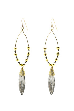 Shoptiques Product: 2 Tone Vintage Glass Earrings
