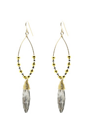 Zia 2 Tone Vintage Glass Earrings - Product Mini Image