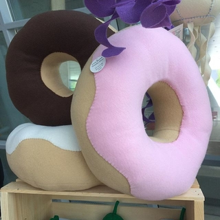 Shoptiques Product: Giant Strawberry Donut Pillow