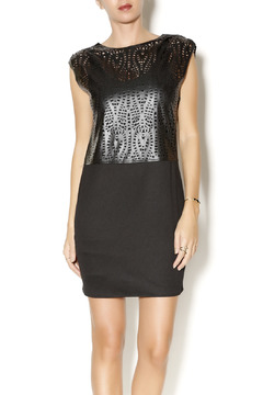 House of Harlow 1960 Faux Leather Perforated Dress - Product List Image
