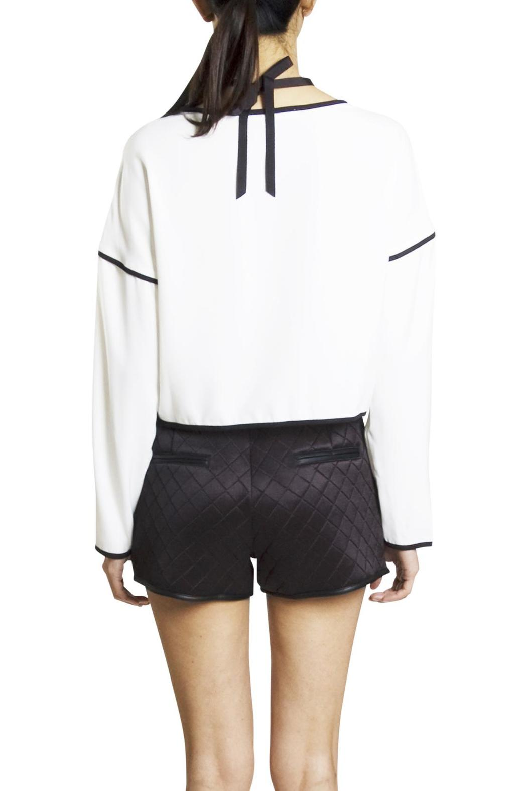 Endless Rose Contrast Crop Blouse - Side Cropped Image