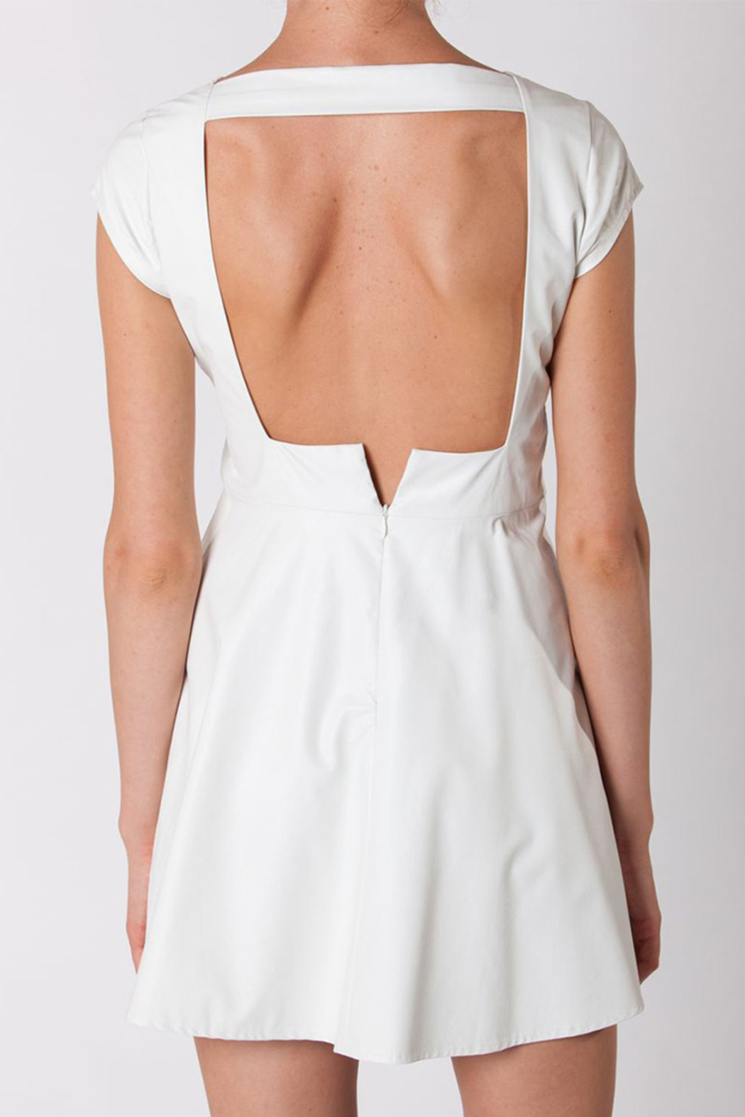 For Love & Lemons Faux Leather Dress - Back Cropped Image