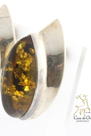 CDO  Amber Earrings Sterling - Front full body