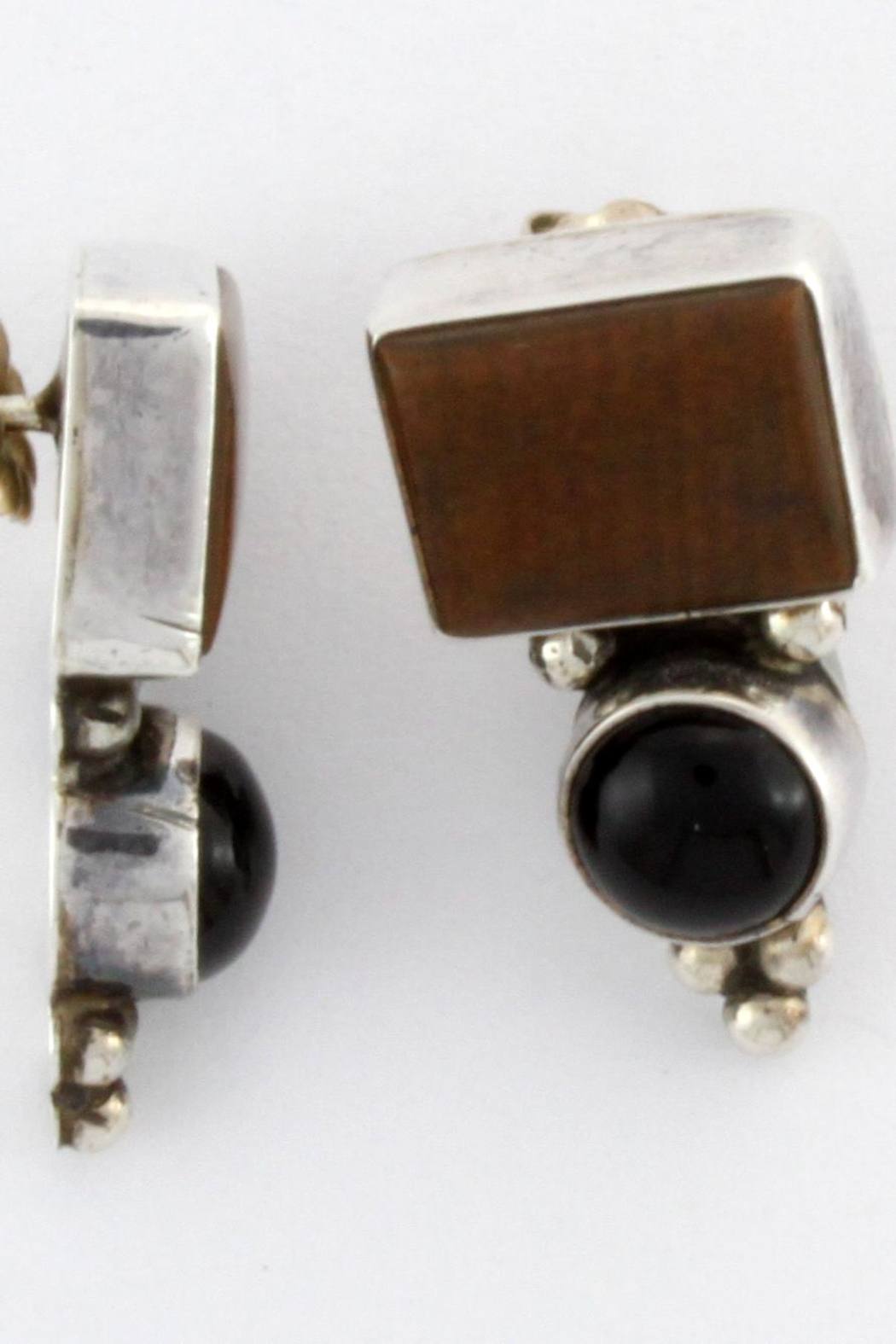 CDO  Black Onyx Earrings - Front Cropped Image
