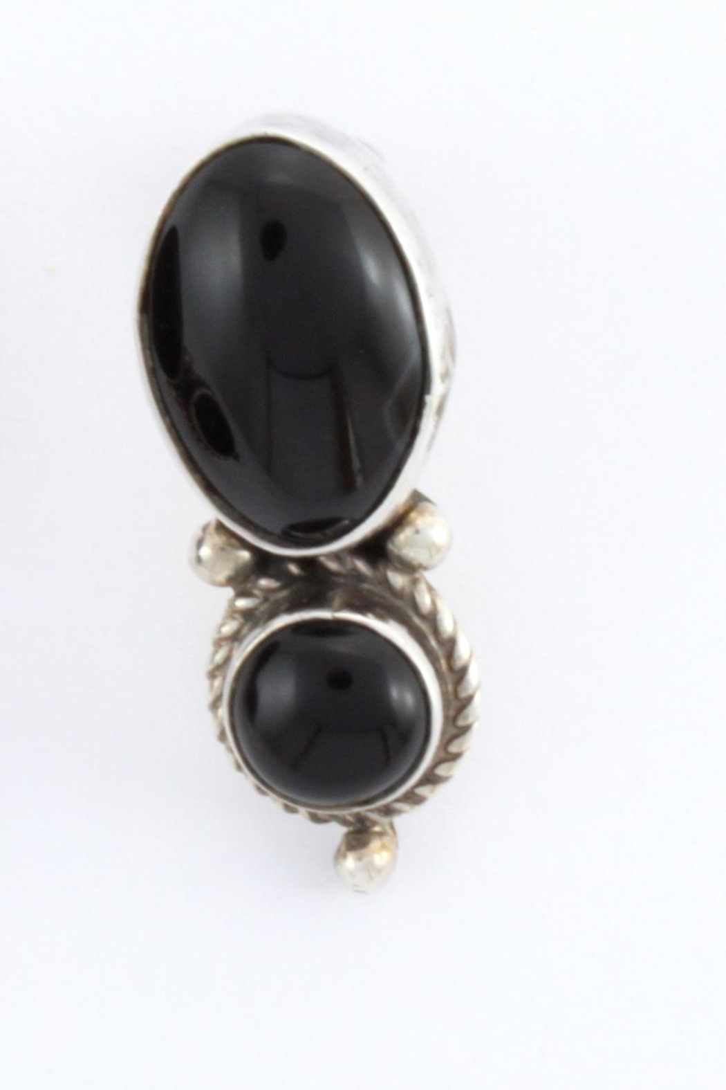 sterling modolo slvr onyx ox black silver pr cage pear errngs cg shape blck two di dm drp earrings drop