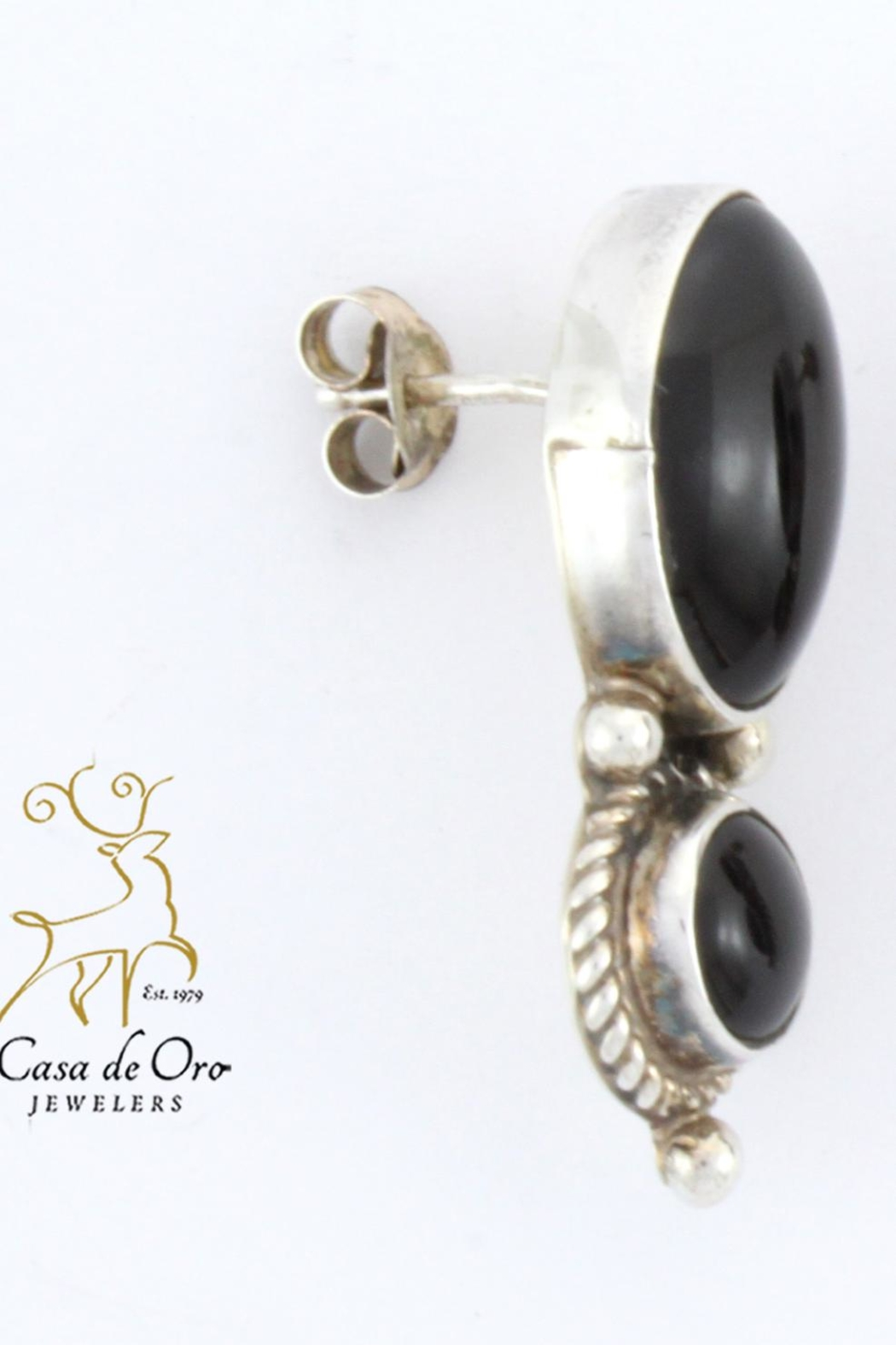 CDO  Black Onyx Earrings - Front Full Image