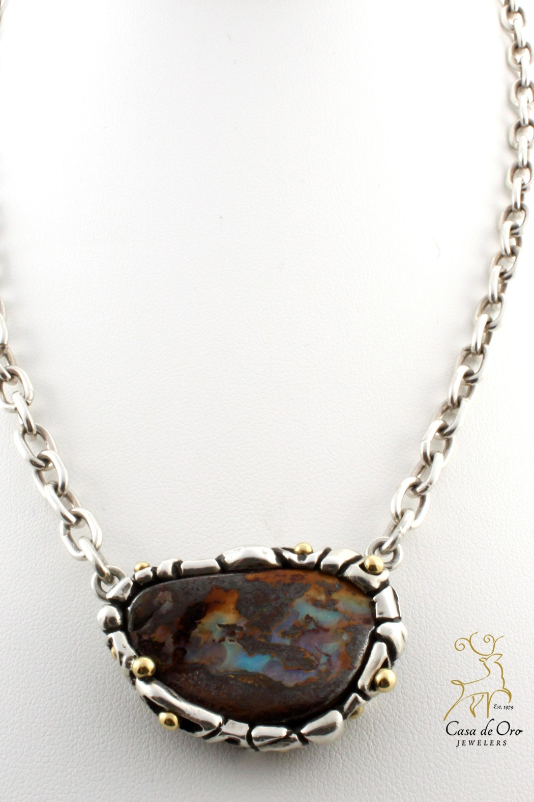 flashopal pendant sale g gold yellow boulder opal jewelry handmade