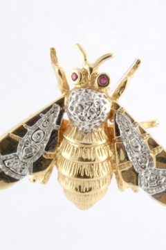 Shoptiques Product: Bumblebee Diamond Brooch