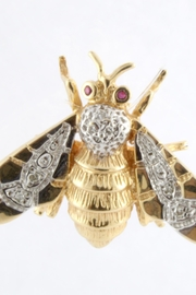 CDO  Bumblebee Diamond Brooch - Front cropped