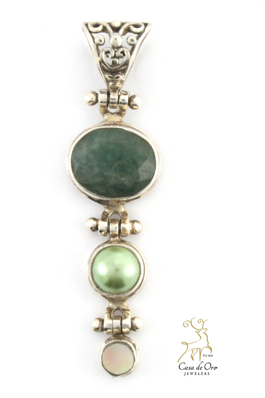 CDO  Emerald Pearl Pendant - Front Cropped Image