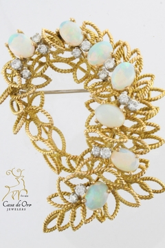 Shoptiques Product: Opal Diamond Brooch