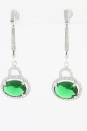 CDO  Simulated Emerald Earrings - Product Mini Image