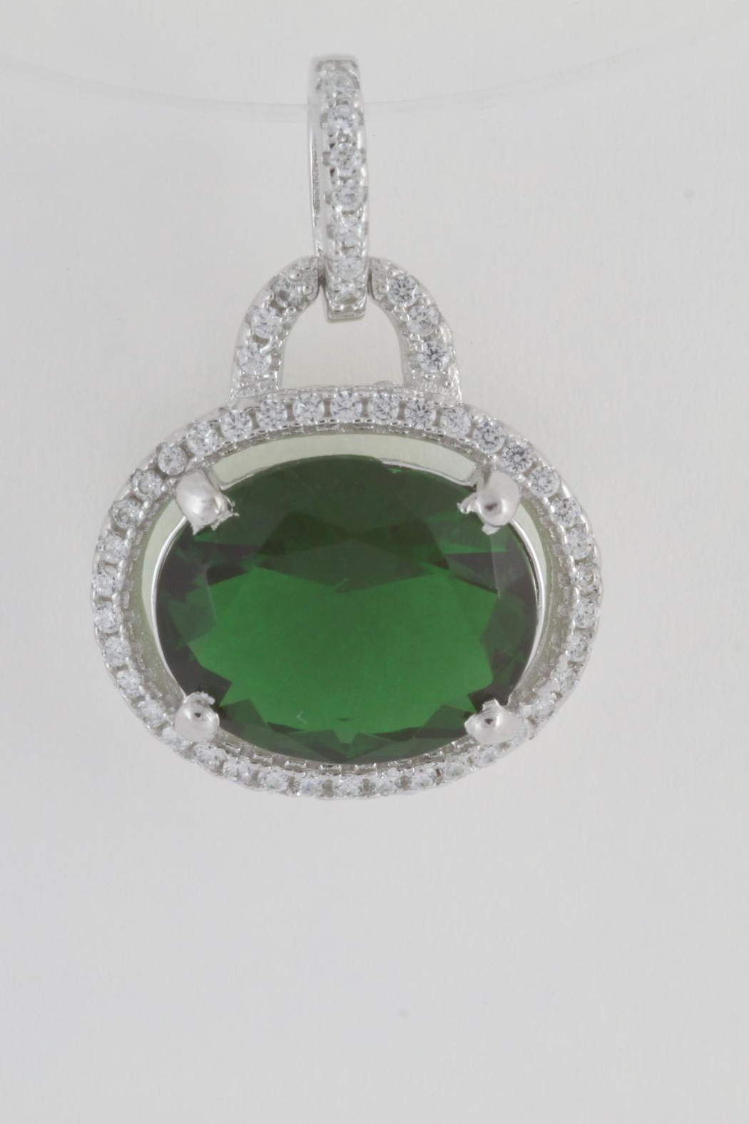 CDO  Simulated Emerald Pendant - Front Cropped Image