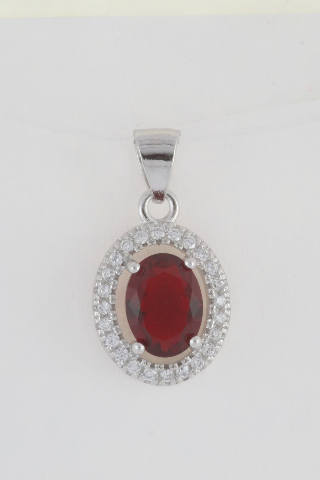 CDO  Simulated Ruby Pendant - Front Cropped Image