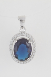 CDO  Simulated Sapphire Pendant - Product Mini Image