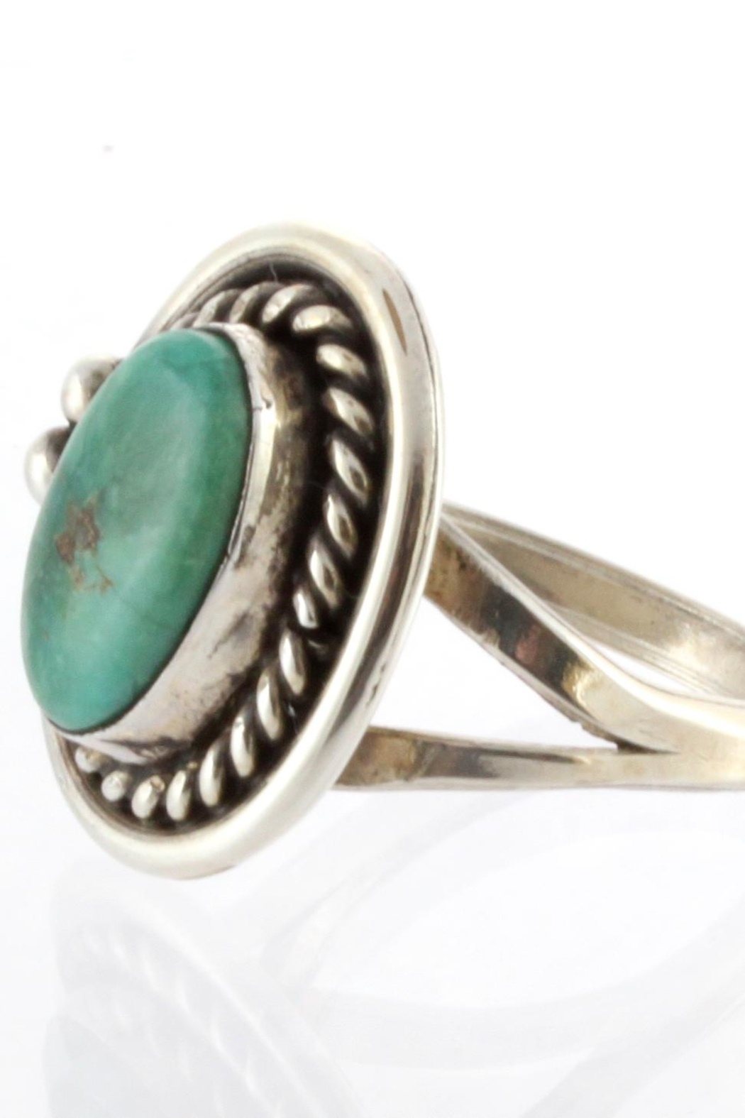 CDO  Sterling Turquoise Ring - Side Cropped Image