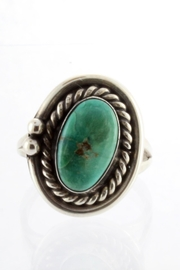 CDO  Sterling Turquoise Ring - Front cropped