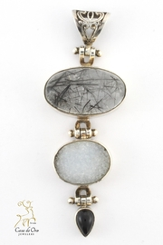CDO  Tourmalated Quartz Pendant - Front cropped
