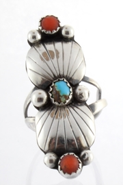 CDO  Turquoise Coral Ring - Front cropped