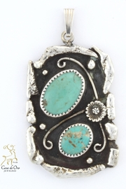 CDO  Turquoise Sterling Pendant - Product Mini Image