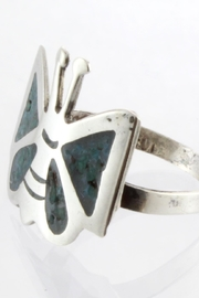 CDO  Turquoise Sterling Ring - Side cropped
