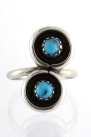 CDO  Turquoise Sterling Ring - Front cropped