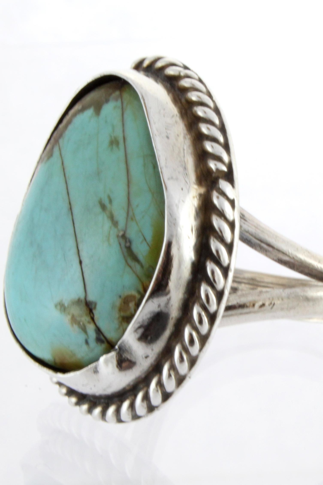 CDO  Turquoise Sterling Ring - Front Full Image