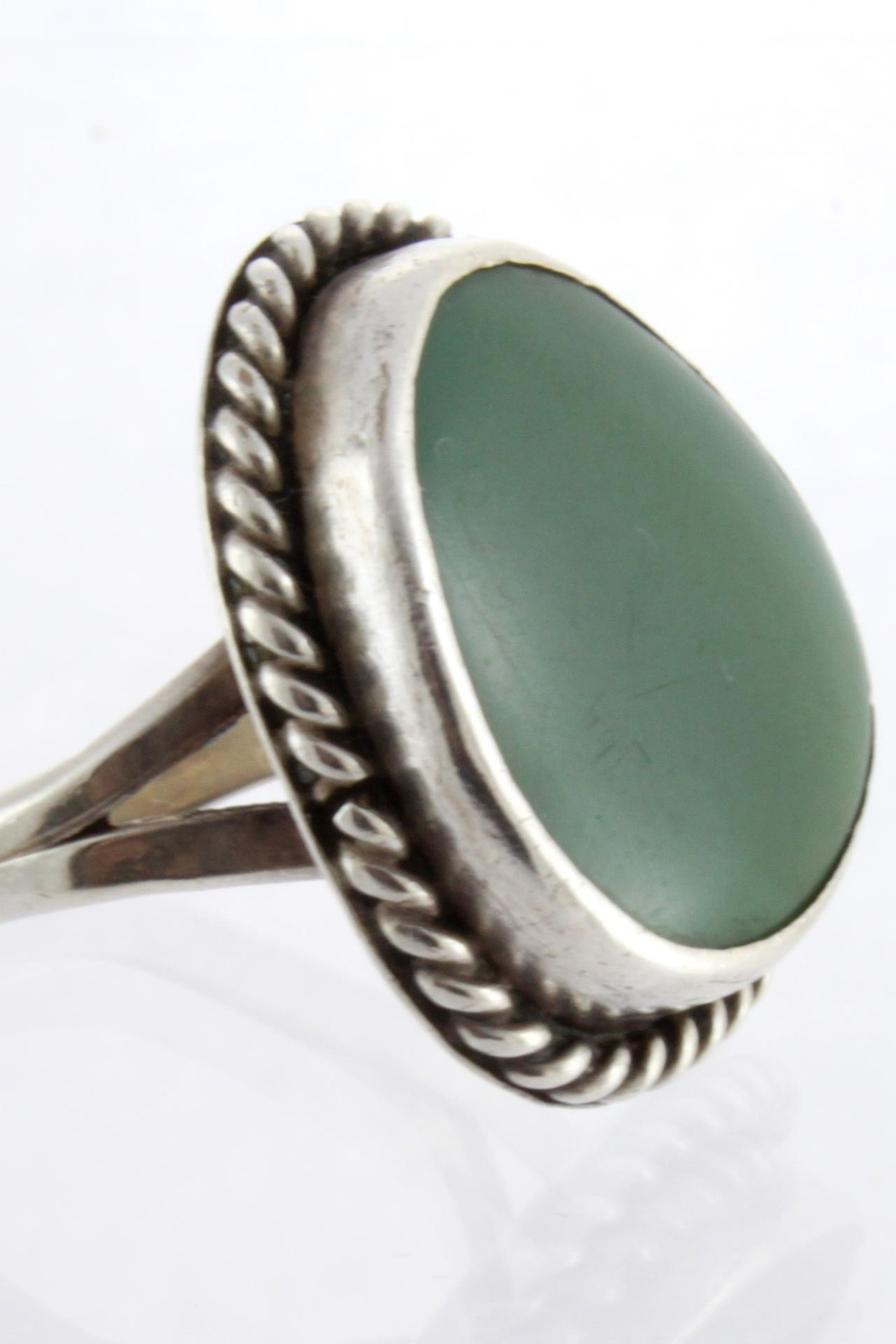 CDO  Turquoise Sterling Ring - Side Cropped Image