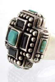 CDO  Turquoise Sterling Ring - Front full body